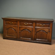 Large Country House George II Antique Oak Dresser Base