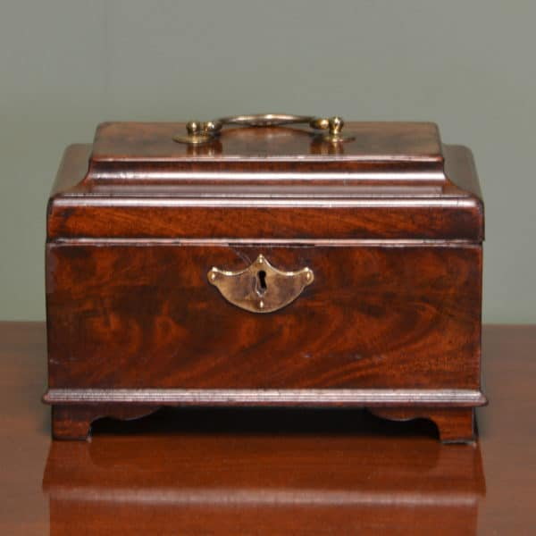 Georgian Mahogany Antique Tea Caddy / Jewellery Box