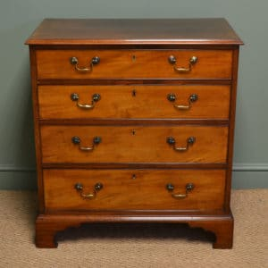Unusual Superb Quality Small Georgian Mahogany Antique Chest Of Drawers