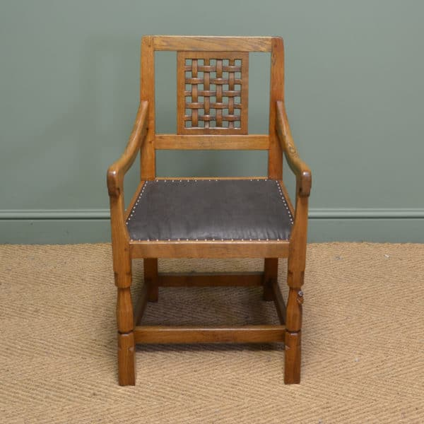 Oak Mouseman Antique Carver Chair