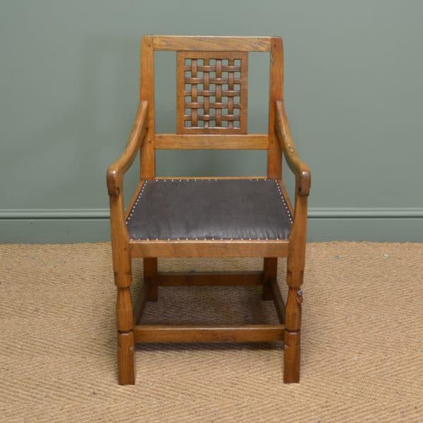 Oak Mouseman Antique Carver Chair