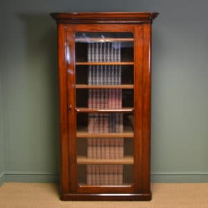 Unusual Superb Quality Tall Victorian Antique Mahogany Bookcase
