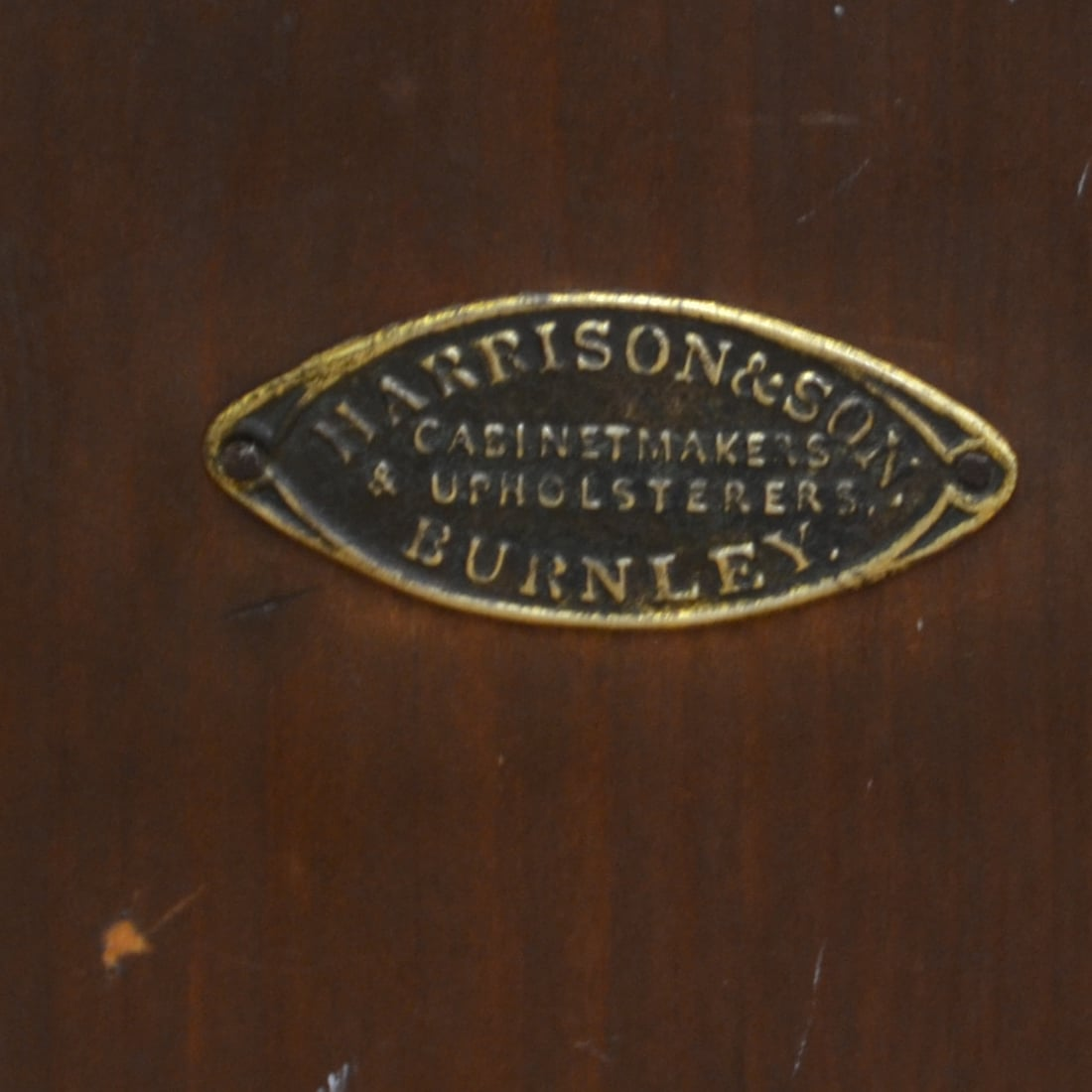 Victorian Figured Walnut Antique Bedside Cabinet,Constructed By Cabinet Makers Harrison & Son Burnley