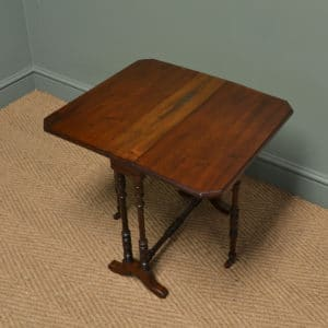 Small Edwardian Walnut Antique Sutherland Table