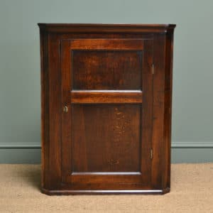 Small Georgian Antique Oak Hanging Corner Cupboard