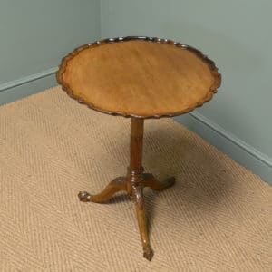 Edwardian Antique Walnut Pie Crust Edge Occasional Table