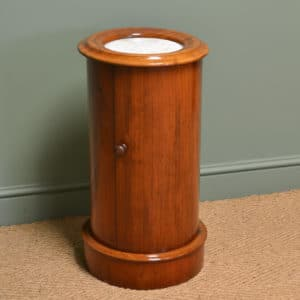 Stunning Cylindrical Victorian Antique Mahogany Cabinet