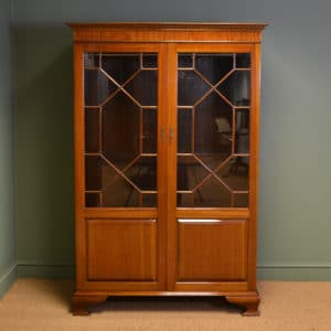 Spectacular Antique Edwardian Mahogany Glazed Wardrobe