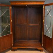 Spectacular Antique Edwardian Mahogany Glazed Wardrobe