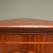 Quality Georgian Mahogany Floor Standing Corner Cupboard