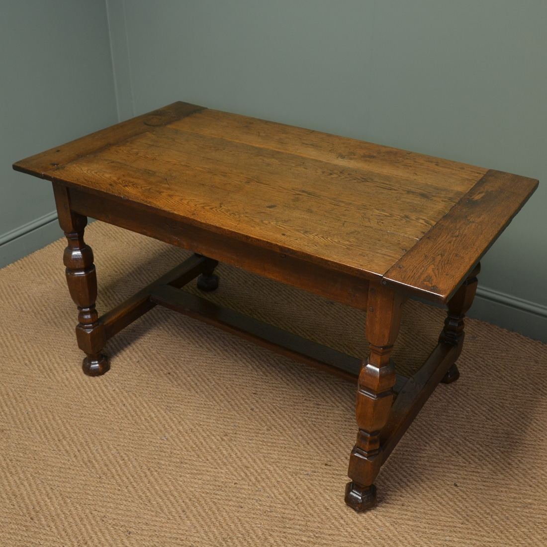 Victorian Oak Antique Small Refectory Dining Table