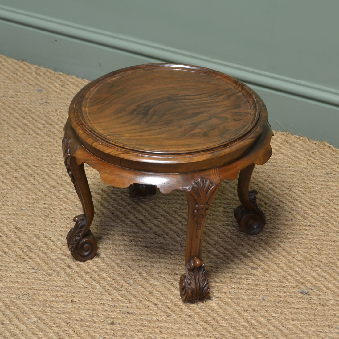 Antique Coffee Table Uk: Small Edwardian Walnut Antique Coffee Table