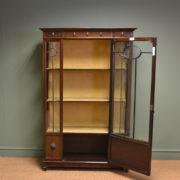 Fine Quality Edwardian Walnut Antique Display Cabinet