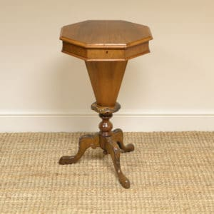 Elegant Walnut Victorian Workbox / Occasional Table