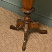 Elegant Walnut Victorian Workbox / Occasional Table