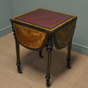 Beautifully Figured Victorian Walnut Antique Centre / Writing / Games Table