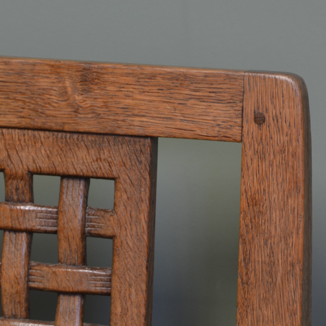 Set Of Four Oak Mouseman Antique Dining Chairs Antiques World