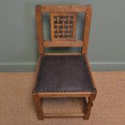Set Of Four Oak Mouseman Antique Dining Chairs