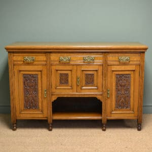 Quality Victorian Golden Oak Antique Sideboard