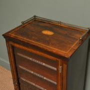 Stunning Victorian Rosewood Inlaid Antique Music Cabinet