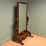 Stunning Victorian Full Length Mahogany Antique Cheval Mirror