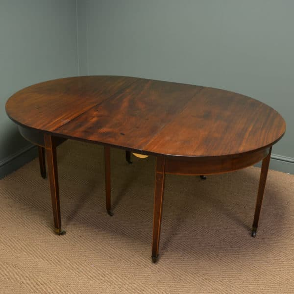 Country Georgian Antique Mahogany Dining Table / Pair Of Console Tables