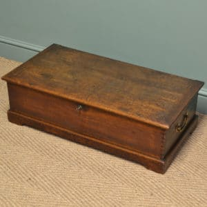 Period Georgian Oak Low Antique Coffer / Coffee Table
