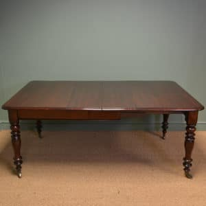 Stunning Victorian Figured Mahogany Antique Extending Dining Table