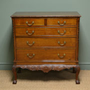 Magnificent Edwardian Figured Walnut Antique Chest on Stand