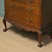 Magnificent Edwardian Figured Walnut Antique Chest on Stand