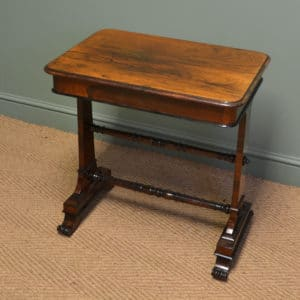 Striking Victorian Rosewood Antique Side / Lamp Table