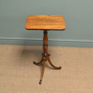 Unusual Victorian Satinwood Country Antique Occasional Lamp Table