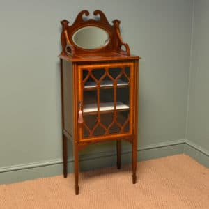 Spectacular Edwardian Inlaid Walnut Antique Music / Display Cabinet