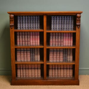 Quality Antique Victorian Mahogany Double Open Bookcase