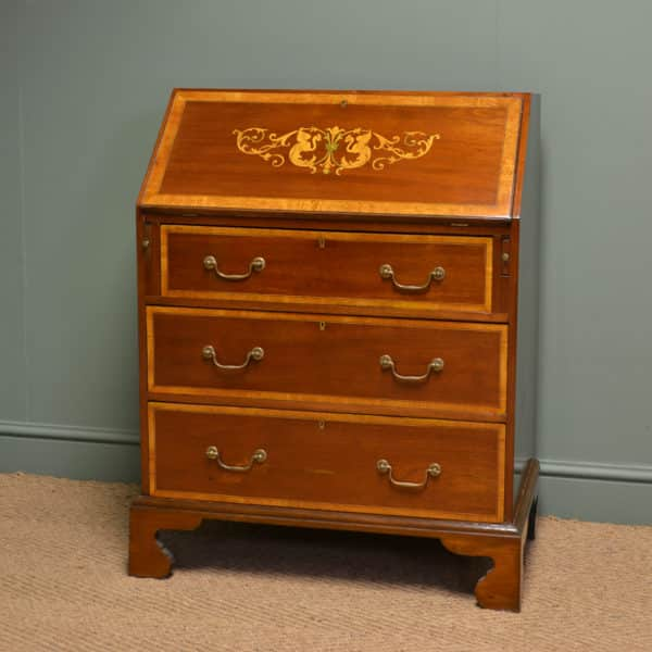 Spectacular Edwardian Inlaid Mahogany Antique Bureau / Desk