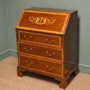 Spectacular Edwardian Inlaid Mahogany Antique Bureau / Desk