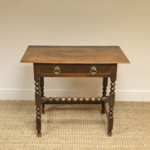 Stunning Period Walnut Antique Side Table / Low Boy