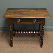 Stunning Period Walnut Antique Side Table / Low Boy - T. Justice and Sons of Dundee