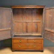Magnificent George III Period Oak Antique Harness Cupboard