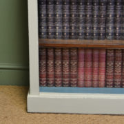 Victorian Painted Antique Open Bookcase