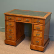 Quality Small Jas Shoolbred & Co Victorian Walnut Antique Pedestal Desk