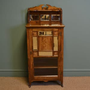 Stunning Inlaid Victorian Rosewood Antique Music Cabinet