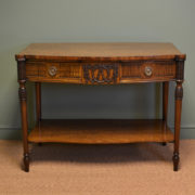 Super Quality Edwardian Mahogany Sheraton Design Antique Console / Side Table