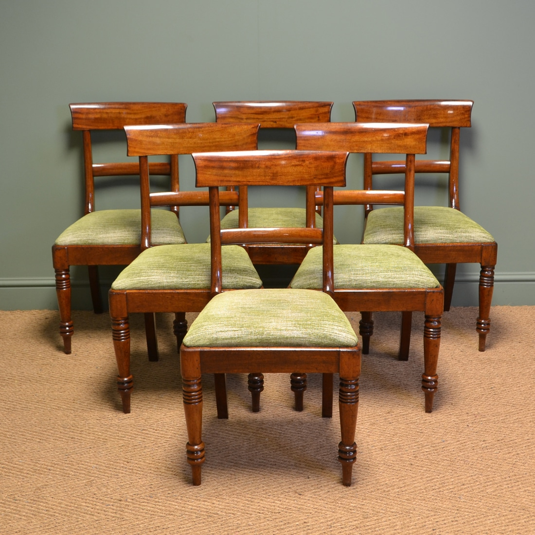 Quality Dining Furniture: Superb Quality William IV Set Of Six Mahogany Antique