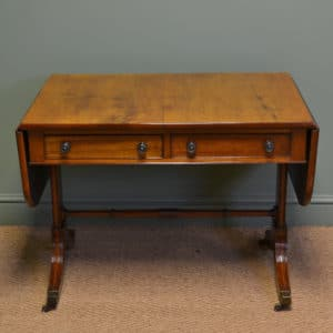 Beautifully Figured Victorian Mellow Mahogany Antique Sofa Table