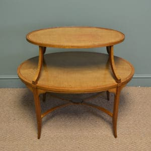 Superb Quality Edwards & Roberts Satinwood Two Tier Occasional / Lamp Table