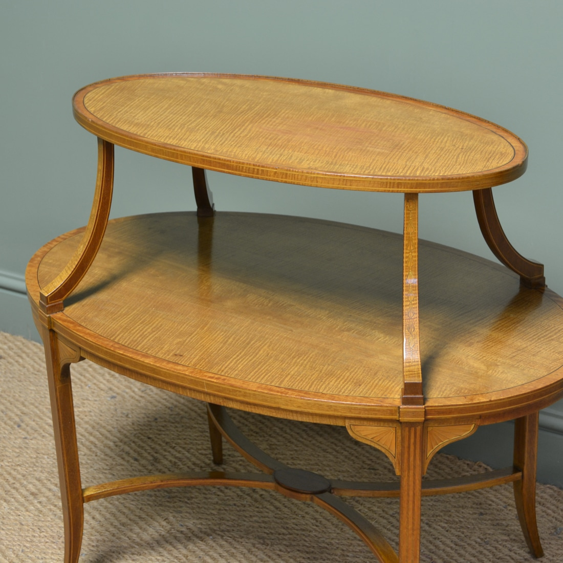 Superb Quality Edwards Roberts Satinwood Two Tier
