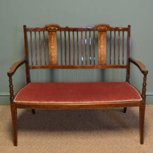 Superb Quality Victorian Rosewood Inlaid Antique Settee