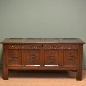 Superb Quality Large 17th Century Period Oak Antique Coffer