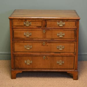 Characterful Period Walnut Antique Chest Of Drawers